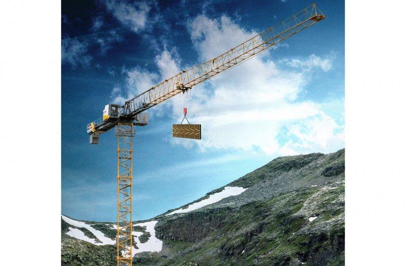 Der neue Flat-Top-Kran 205 EC-B 10 von Liebherr <br> Bildquelle: Liebherr-International Deutschland GmbH