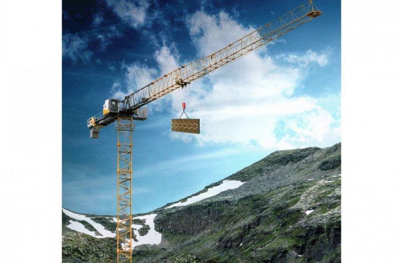 The new 205 EC-B 10 Flat-Top crane from Liebherr <br>Image source: Liebherr-International Deutschland GmbH
