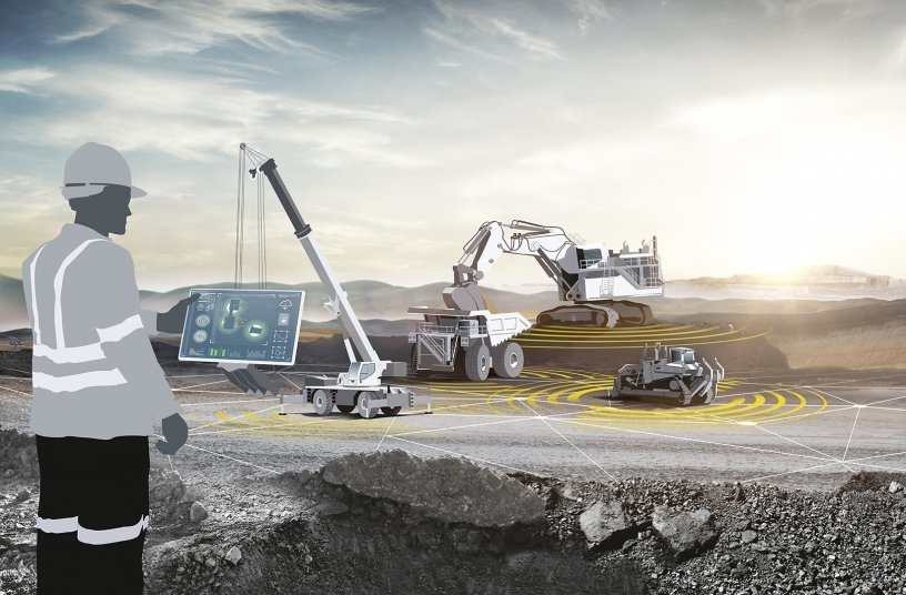 Liebherr with a variety of machines and new technologies at MINExpo 2021.<br> Image source: Liebherr Mining Equipment Newport News Co.