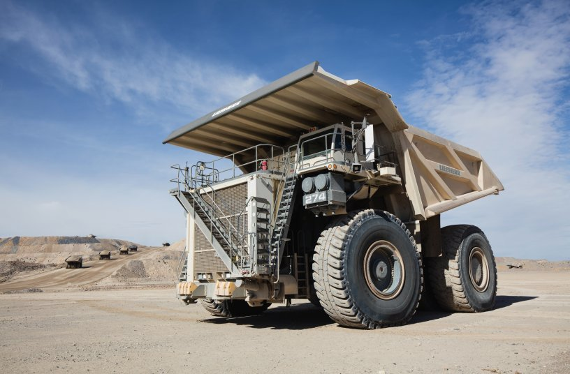 The T 274 is a true 305 tonne machine that provides fast cycle times, higher production rates, low fuel consumption, and a low cost per tonne. <br>Image source: Liebherr Mining Equipment Newport News Co.