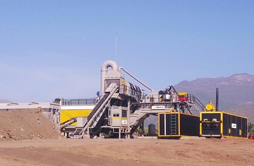 Linnhoff TSD 1500 MobileMix asphalt plants, a popular choice for road contractors in Ethiopia <br> Image source: Lintec & Linnhoff Asphalt Pte Ltd