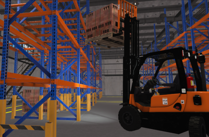 Loading Warehouse <br> Image source: CM Labs Simulations