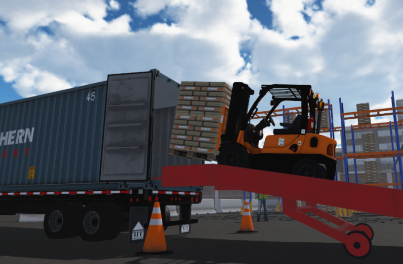 Loading Warehouse<br>Image source: CM Labs Simulations