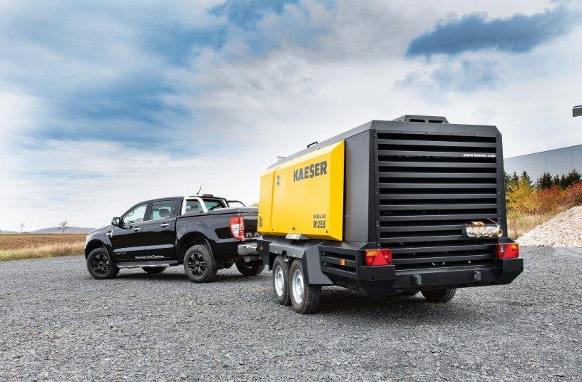 Die M255 ist der größte öleingespritzte Baukompressor von Kaeser für Europa und Nordamerika. <br> Bildquelle: KAESER KOMPRESSOREN SE