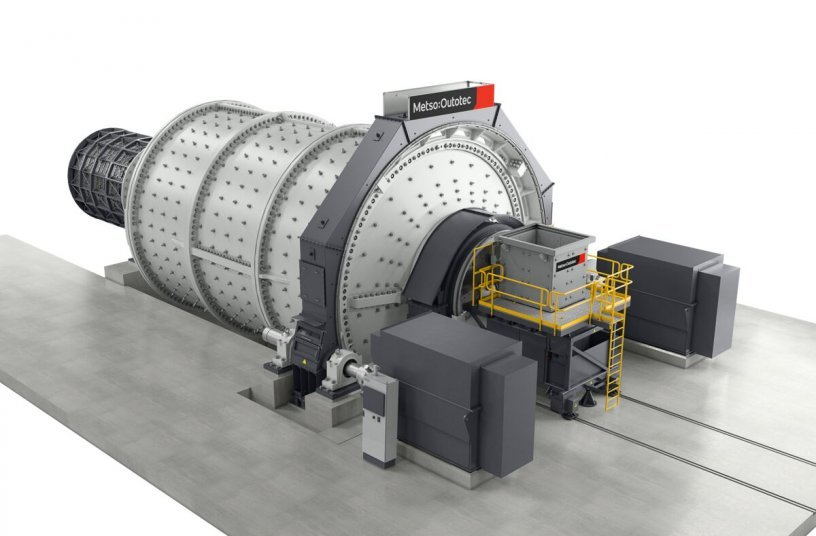 Metso Outotec Premier Ball Mill<br>IMAGE SOURCE: Metso Outotec Oy