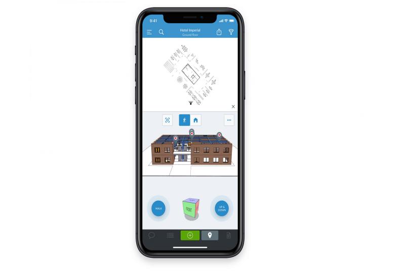PlanRadar - BIM-Funktion auf Smartphone