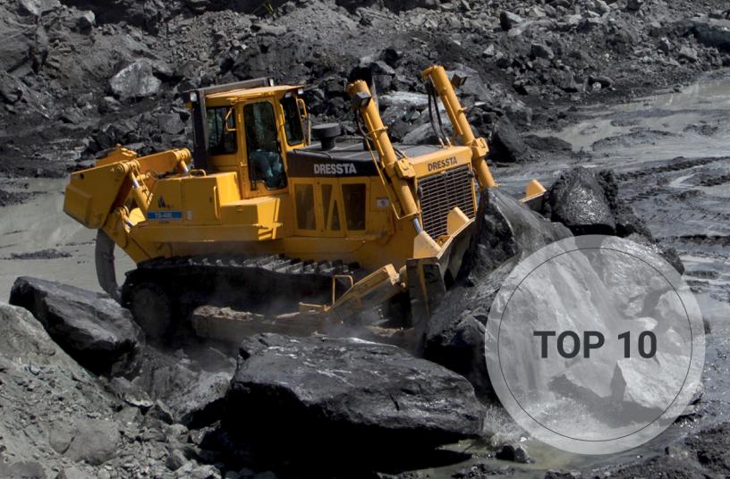 TOP 10 bulldozers<br>SOURCE: LECTURA Verlag GmbH