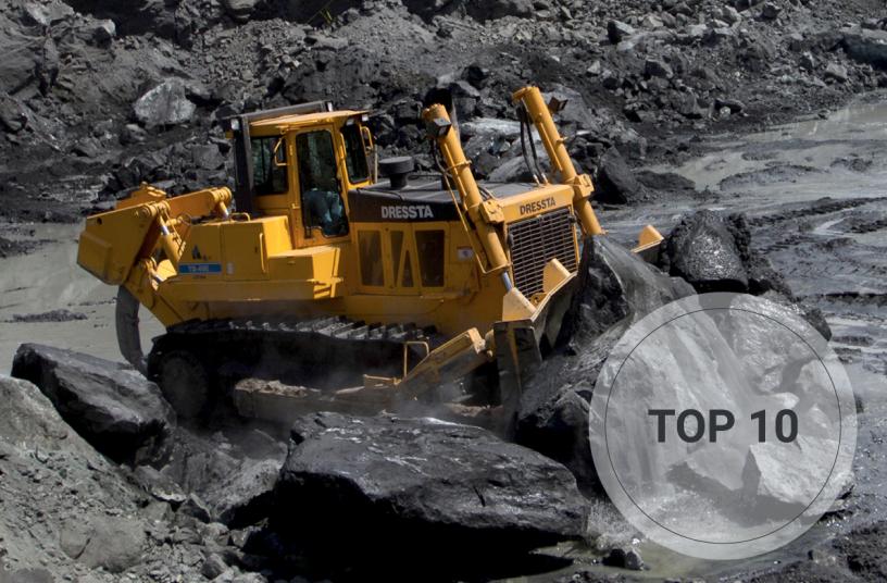 Top 10 bulldozers<br>Bildquelle: LECTURA Verlag GmbH