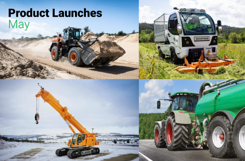 Monthly Product Launch Overview - May 2021<br>SOURCE: LECTURA Verlag GmbH; Quantron AG; Liebherr-Werk Ehingen GmbH; BKT Europe Media Relations; DOOSAN INFRACORE EUROPE S.R.O.