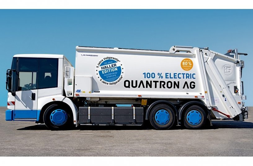 The QHB 27-280 electric refuse collection vehicle from Quantron AG, now with 5-year warranty<br>IMAGE SOURCE: Quantron AG