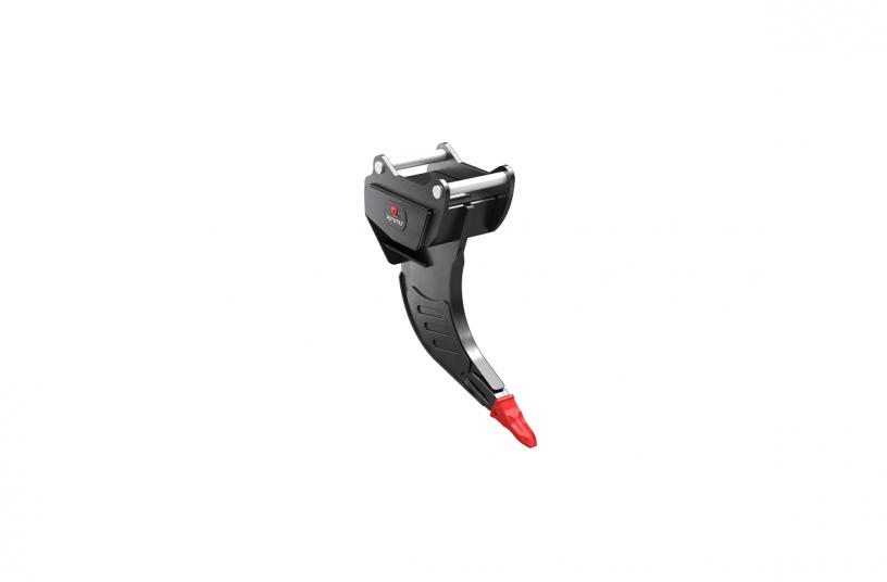 Der neue, kürzere Reißzahn von Rototilt ist ab sofort für Maschinen von 2 bis 32 t erhältlich.<br>Bildquelle: Rototilt GmbH; Pressebüro Spoo