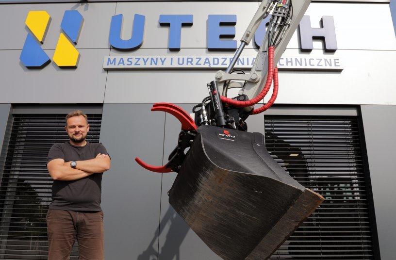 """Überzeugt: """"Bei der Wahl des Schwenkrotators kommt für uns nur  Rototilt in Frage"""", sagt Jaroslaw Koenig, CEO von Utech, dem neuen  Vertriebspartner von Rototilt in Polen.<br> Bildquelle: Rototilt"""