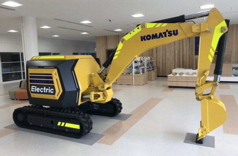 Fully electric mini excavator as the next generation concept machine for the future <br>Image source: Komatsu Europe International N.V.
