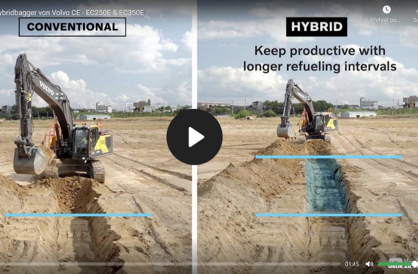 Neue Hybridbagger von Volvo CE - EC250E & EC350E <br>Image source: Video Quelle: Volvo Construction Equipment. In YouTube [online]