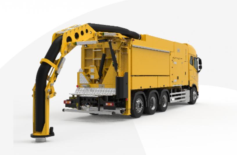 MTS-Kraftarm EVOARM<br>BUILDQUELLE: MTS Mobile Tiefbau Saugsysteme GmbH