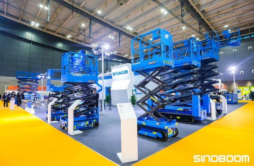 Sinoboom booth<br>Image source: Sinoboom Intelligent Equipment