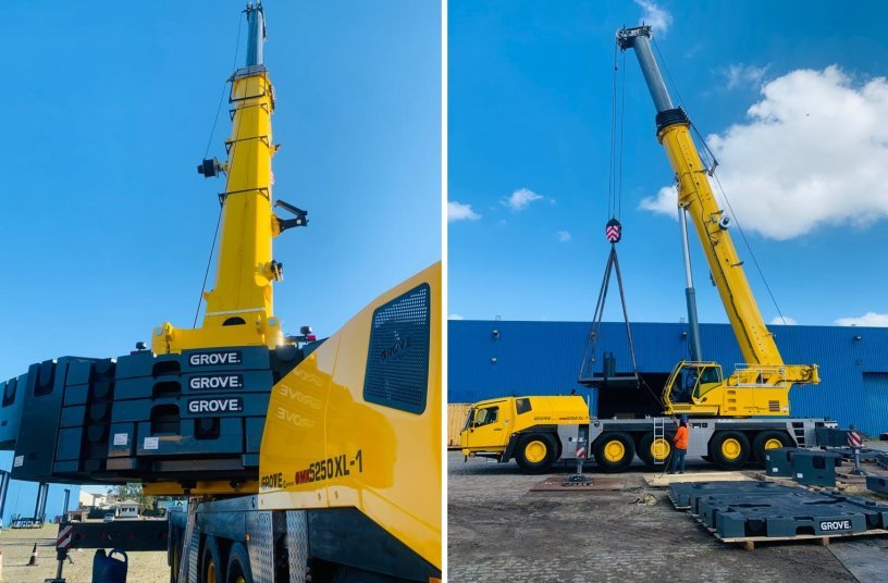 Sistermi bolsters fleet with Brazil's first Grove GMK5250XL-1 <br> Image source: Manitowoc