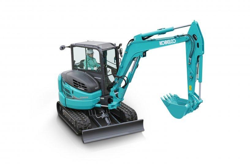 Der neue Kobelco SK58SRX-7 ist auf dauerhaft hohe Arbeitsleistung in Aushub und Anbaugeräte-Betrieb ausgelegt.<br> Bildquelle: Kobelco Construction Machinery Europe B.V.