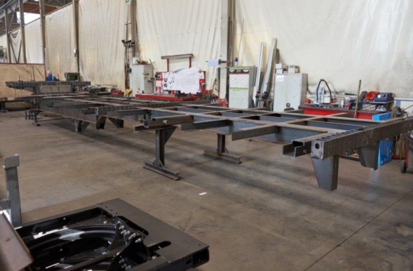 Leichtbau dank Strenx® Hochleistungsstahl auch in der Rahmenfertigung.