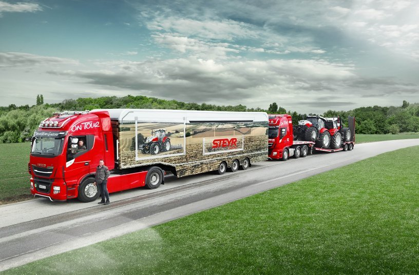 STEYR Demo Truck On the road - demo tour<br>SOURCE: CNH Industrial Corporate Communications