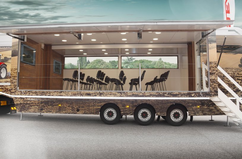 STEYR Demo Truck - trailer inside <br> Image source: CNH Industrial Corporate Communications