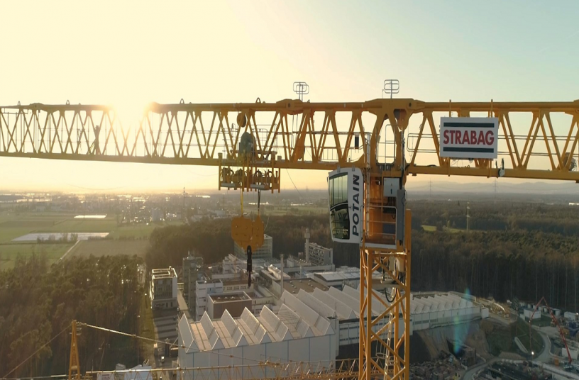 Strabag deploys Potain MDT 809 topless crane for FAIR particle accelerator facility construction in Germany<br>Image source: MANITOWOC COMPANY, INC.