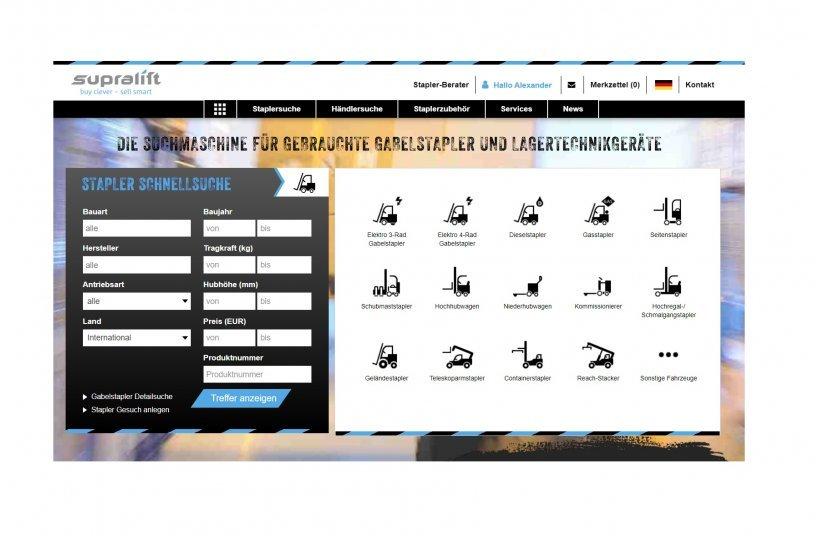 Supralift website <br>Bildquelle: Supralift GmbH & Co. KG