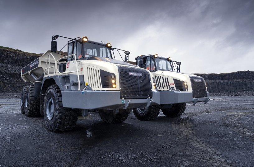 Die Terex Trucks TA300 und TA400 knickgelenkten Muldenkipper sind nun mit EU-Abgasstufe V Motoren ausgestattet.