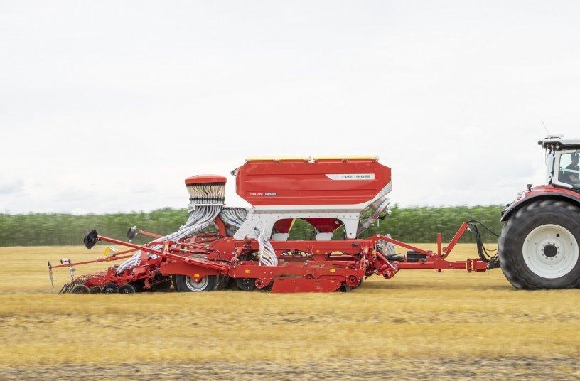 Eine effiziente Aussaat mit der neuen  TERRASEM 6000 V <br> Bildquelle: PÖTTINGER Landtechnik GmbH