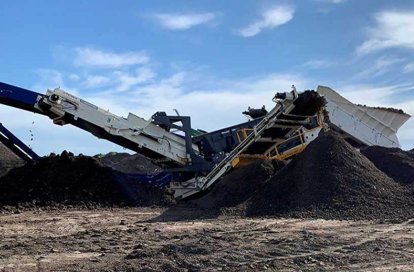 TRS 550 soil repurpose in Australia<br>IMAGE SOURCE: Terex Ecotec