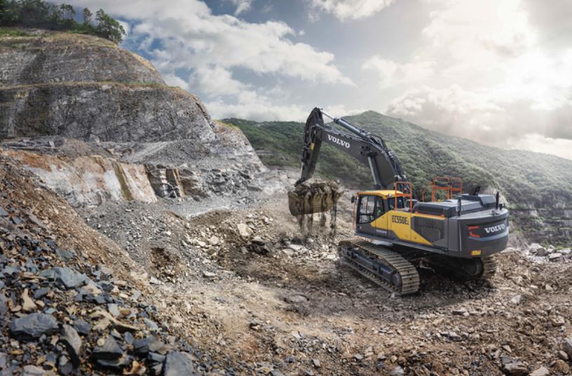 Volvo EC530E excavator <br>Image source: Volvo Construction Equipment North America