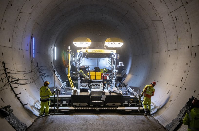 Vögele: Maximum power for one of the longest rail tunnels in Germany