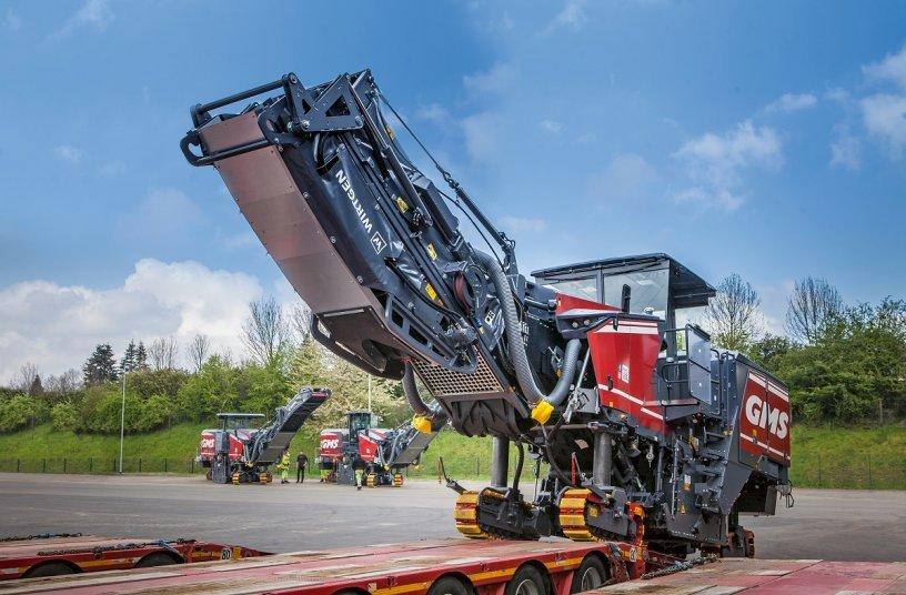 Mit den drei modern ausgestatteten Wirtgen Großfräsen wird der GMS Maschinenpark umweltgerecht erweitert.<br>Bildquelle: WIRTGEN GROUP