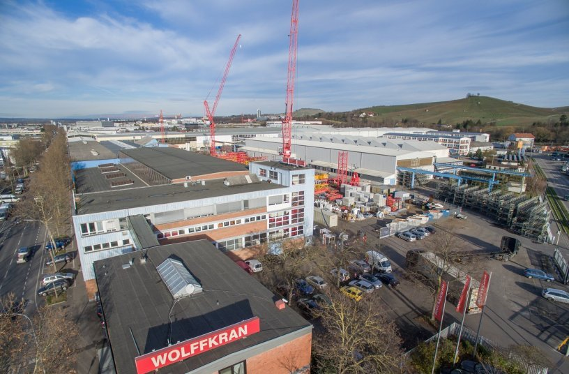 WOLFFKRAN's two German production facilities in Heilbronn (pictured) and Luckau, as well as its engineering center in Ilsfeld, will soon be outfitted with rooftop solar panels and run on green energy.