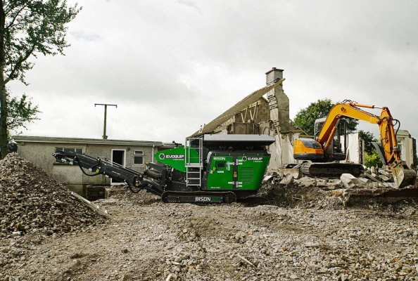 Bison 120, House Demolition. Ireland