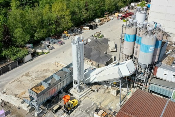 Innovative Technology: EUROMIX® 3300 SPACE by SBM produces UHPC (Ultra High Performance Concrete) for Wind Turbine Towers. Credits: SBM Mineral Processing (reprint free of charge if mentioned)