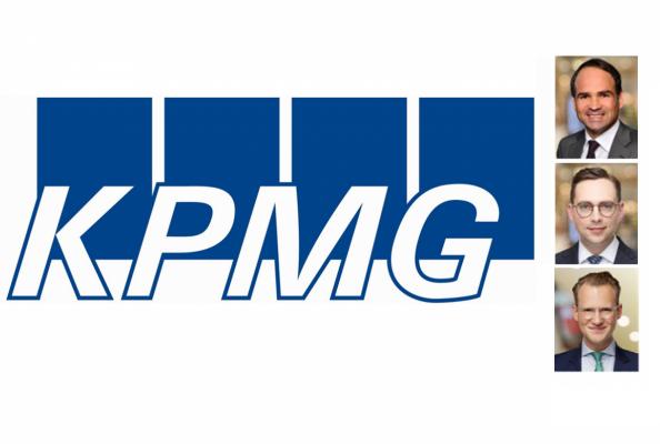 KPMG: Bernd Oppold, Partner KPMG und Maximilian Eberle, Manager KPMG and Simon Zimmermann, Assistant Manager KPMG