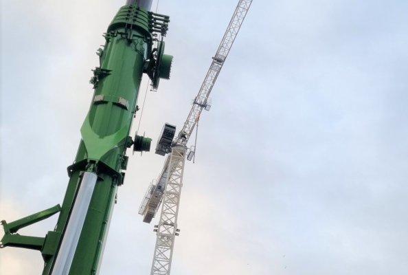Irish Cranes installs two of four Raimondi cranes in Dublin city centre