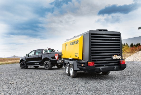 The M255 is Kaeser's largest oil-injected portable compressor for the European and North American markets.