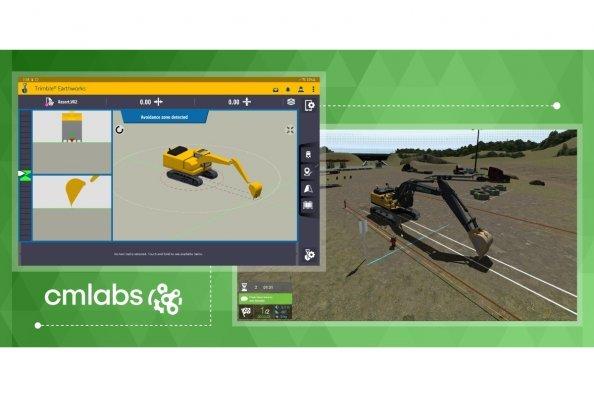 CM Labs Now Offers Trimble Earthworks Grade Control Platform on Excavator Simulator