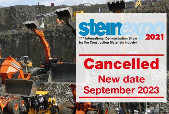 The measures surrounding the pandemic do not allow the trade fair to be held this year. The 11th International Demonstration Trade Fair for the Raw Materials and Building Materials Industry must therefore be cancelled for 2021 due to the unpredictable developments. Thus, the 11th steinexpo will not take place until September 2023 at the MHI quarry in Nieder-Ofleiden, Hesse.