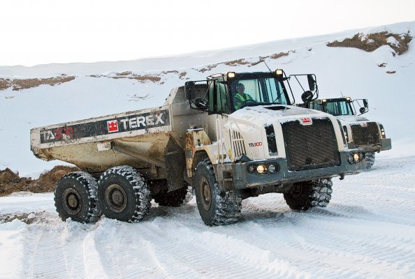 Terex Trucks - TA300 - Five ways to maintain your dump truck during winter