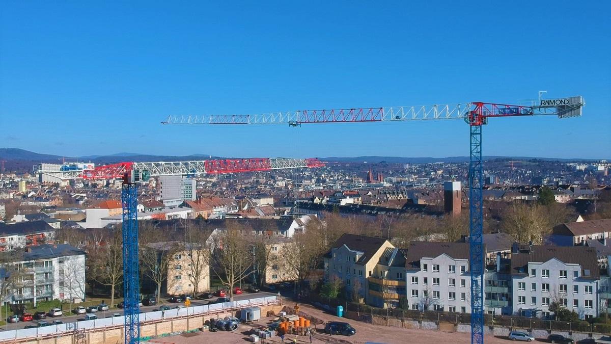 Two Raimondi MRT234 at work in Wiesbaden Germany