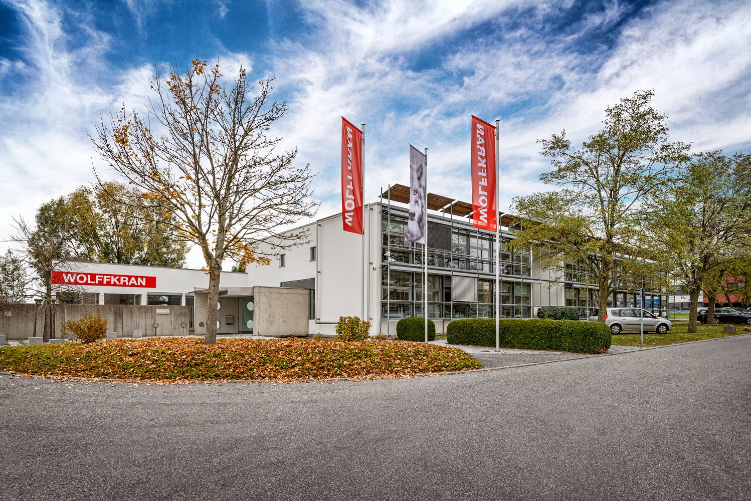 WOLFFKRAN's R&D Center in Ilsfeld, near Heilbronn. WOLFFKRAN employs a total of 377 staff members at the three sites, all of whom will receive extensive training on the integration of climate protection in their everyday work this year.